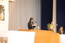 生徒代表 磯野 萌 さん